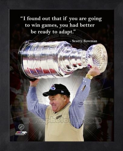 Detroit Red Wings Scotty Bowman 8x10 Framed Pro Quote Photo