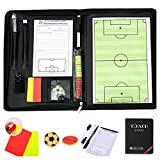 CHSEEA Magnetic Football Soccer Coaching Board/Tactics Folder With Zipper, Paper, Dry Erase, Marker Pen and Magnets - Foldable and Portable Tactic Board Strategy Board Kit #3