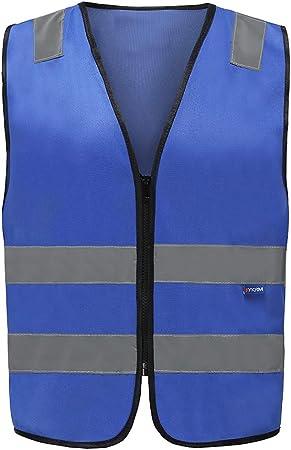 Fluo Moto Auto Gilet Jaune R/éfl/échissant M, Bleu Plusieurs Couleurs Gilet de Securit/é R/éfl/échissant Haute Visibilit/é,EN20471 Conforme /à la Norme