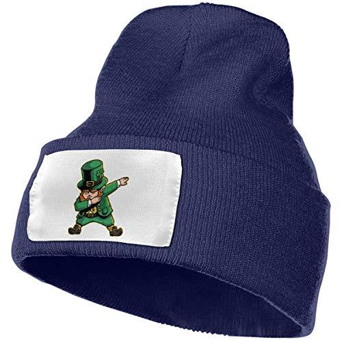 URAHARA Funny Leprechaun Dabbing St Patricks Day Unisex Knit Hat Navy]()