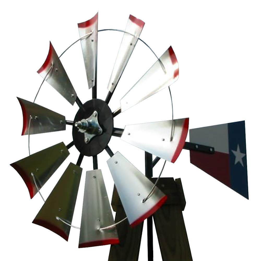 30-inch Windmill Head w/Texas Flag Rudder, Build an 8-Foot Tall Windmill