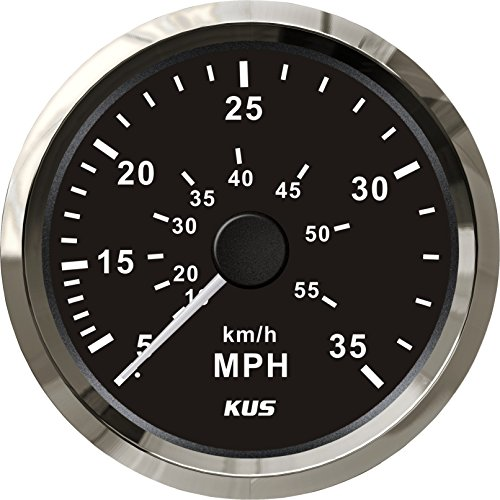 35 Mph Speedometer (KUS Speedometer Gauge 0-35MPH For Boat Yahct 3-3/8'' (85mm))
