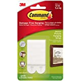 Command Picture & Frame Hanging Strips, Medium, White, 4-Strip, 6-Pack (24 Pairs Total)