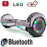 Go-Bowen New 6.5″ Hoverboard -Self Balancing Scooter 2 Wheel Electric Scooter – UL Certified 2272 Bluetooth W/Speaker, LED Wheels And LED Lights