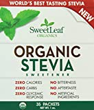 SweetLeaf Organic Stevia Sweetener, 35 Packets (Pack of 12)