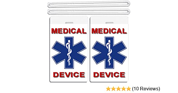 200c5ca0e6c6 2x Medical Device ID Luggage Tags TSA Carry-On CPAP BiPAP APNEA POC APAP