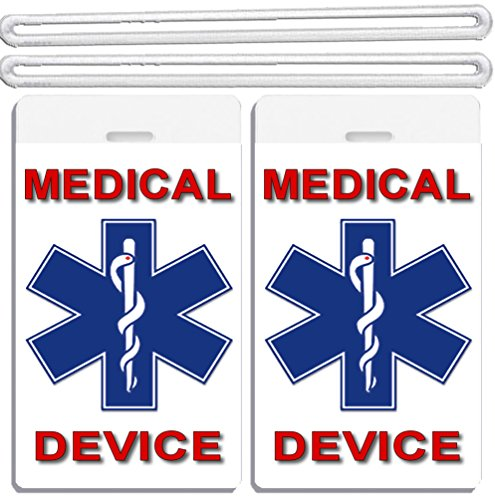 Large Red Tag Sign - 2x Medical Device ID Luggage Tags TSA Carry-On CPAP BiPAP APNEA POC APAP