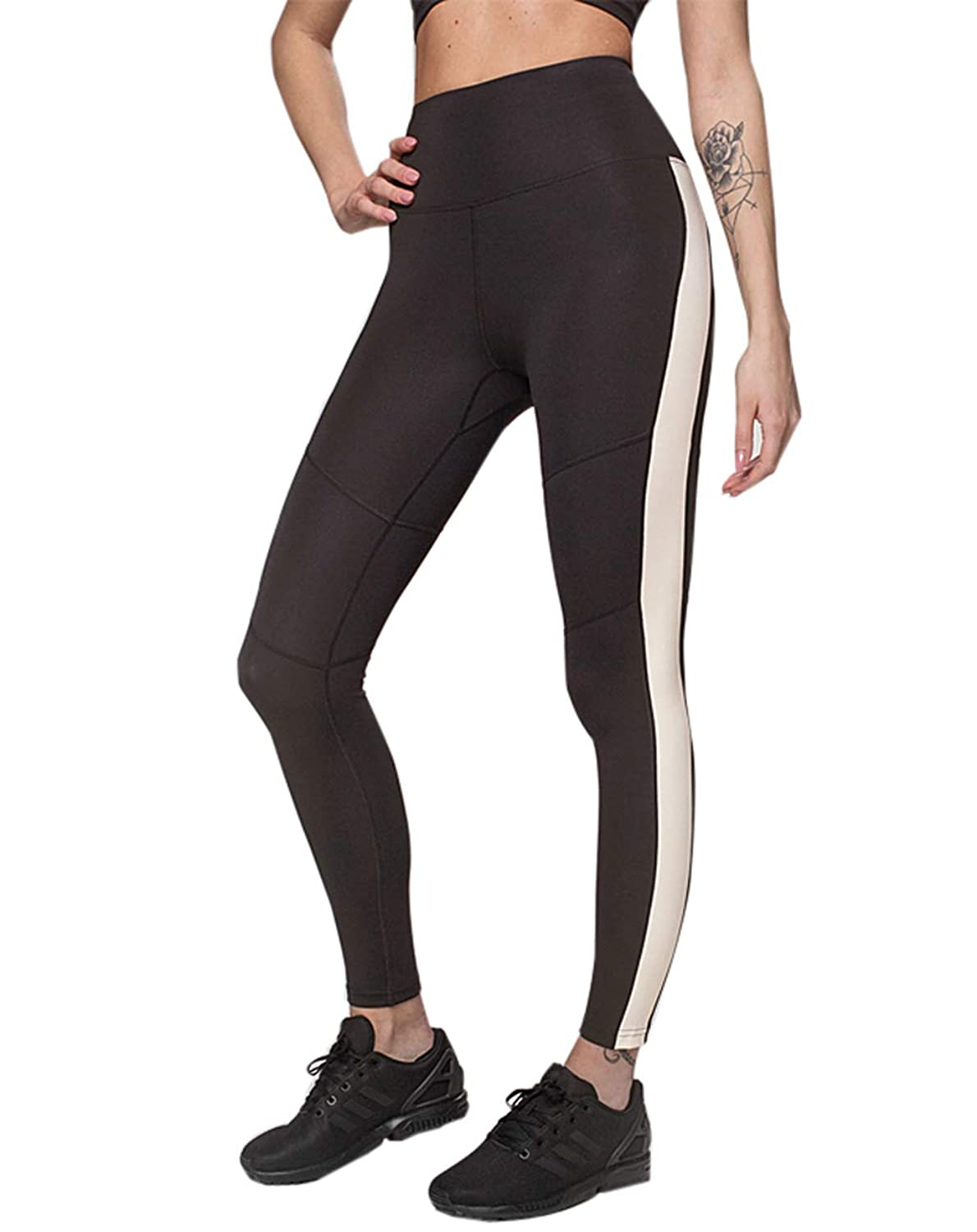 89c9e05073b835 ... FABRIC:88% Polyester/12% Spandex,Power flex fabric,The fabric gives  gentle compression to your tummy and legs,The women sport gym leggings are  a thicker ...
