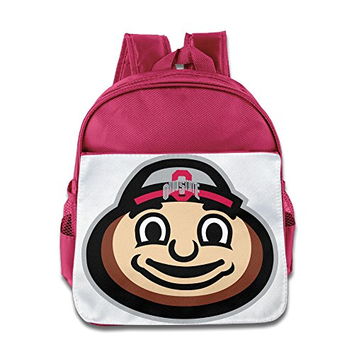 HYRONE Ohio State Buckeyes Football Kids Schoolbag For 1-6 Years Old Pink -