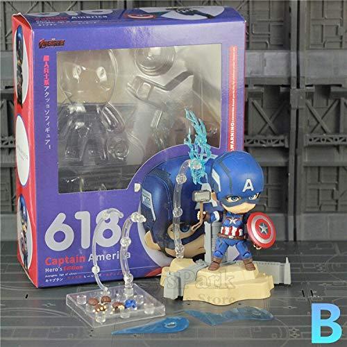 JOYCOSマーベルアベンジャーズかわいいキャプテンアメリカセンチメートルアクションフィギュアスーパーヒーローおもちゃ人形のねんどろいど市民無限大戦争新しい