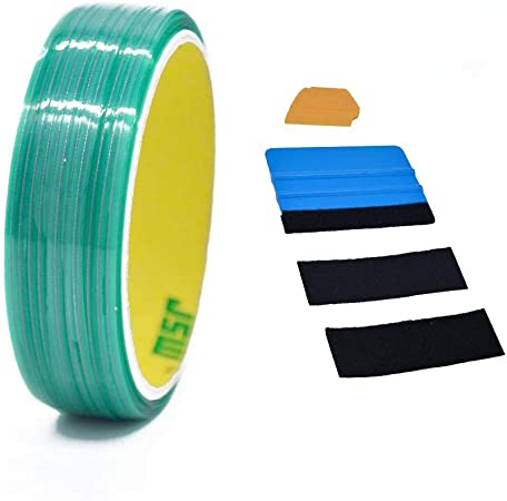 Knifeless Tape Finish Line 5M Finishing Graphics Sign Making Tool with Squeegee