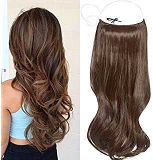 Uniwigs 20 wave synthetic easyvolume halo hair extension for sale 20 one piece hair extensions wire wavy curly dark ash brown pmusecretfo Choice Image