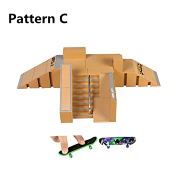 Amazon.com: Skatepark rampas, 5pcs Diapasón para Tech Deck ...