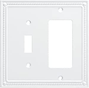 Franklin Brass W35063-PW-C Classic Beaded Switch/Decorator Wall Plate/Switch Plate/Cover, White