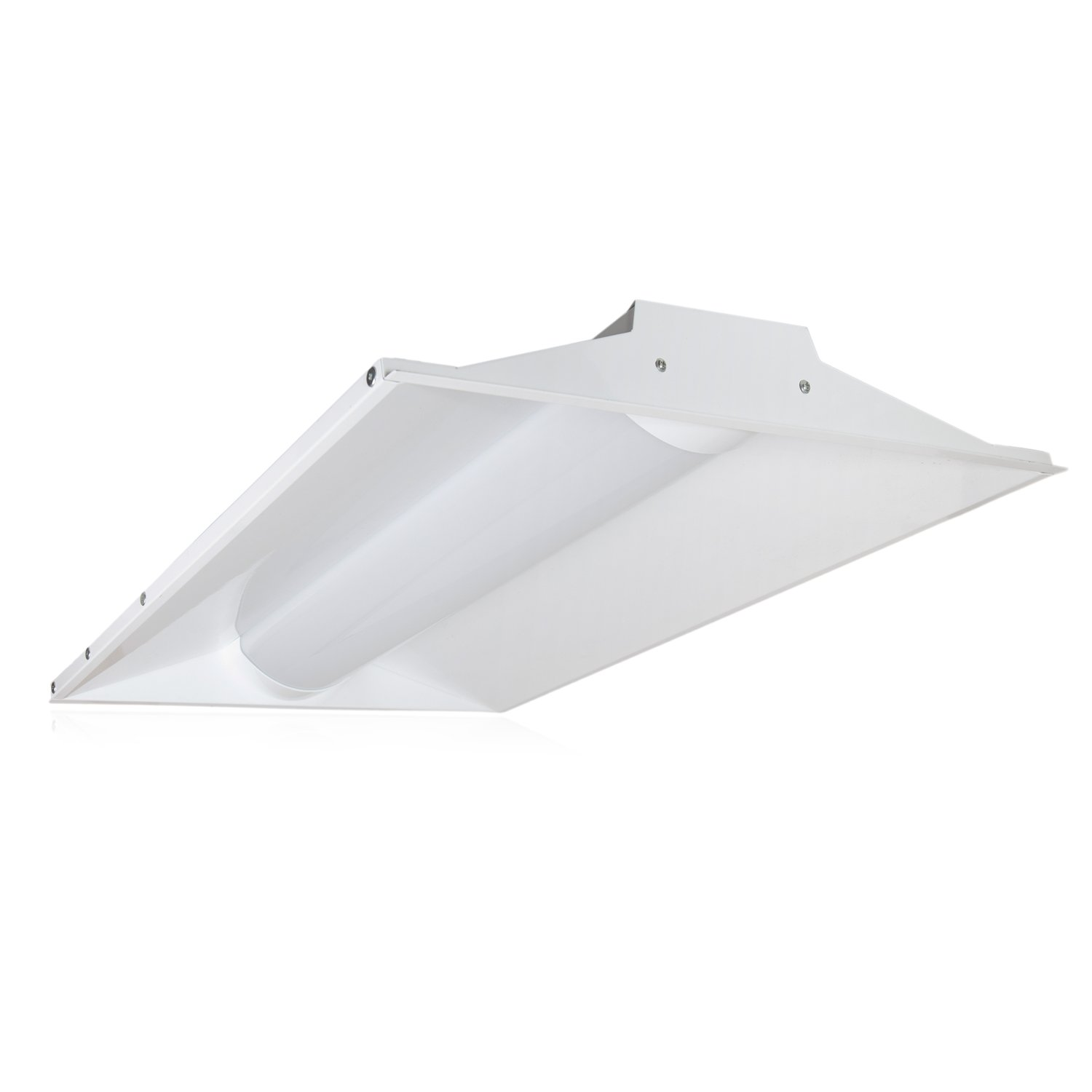 Maxxima 2 ft. x 2 ft. LED Troffer Light Fixture 40W Color Temperature Select Switch to Choose 3000K, 4000K, 5000K, Dimmable, 4400 Lumens