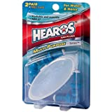 Hearos Multi-Purpose Reusable Silicone Ear Plugs Includes Free Case, 2 Pair (Pack of 3)