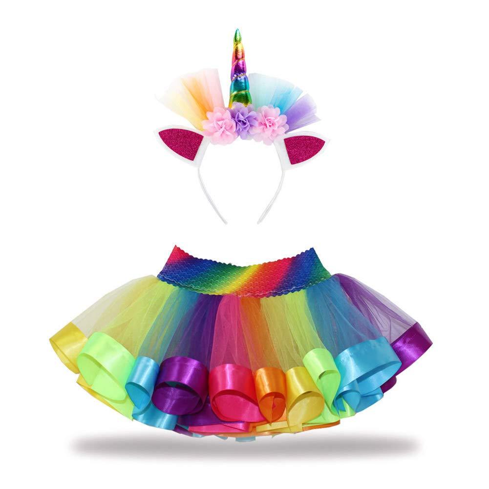 CHIRORO Arcobaleno - Falda tutú para niña, Disfraz de Ballet ...