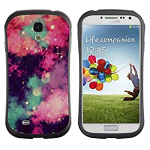 "iFace Series Tpu Silicona Carcasa Funda Case Para SAMSUNG Galaxy S4 IV / i9500 / i9515 / i9505G / SGH-i337 , ( Estrellas Universo se nubla el cielo Majestic Noche"" )"