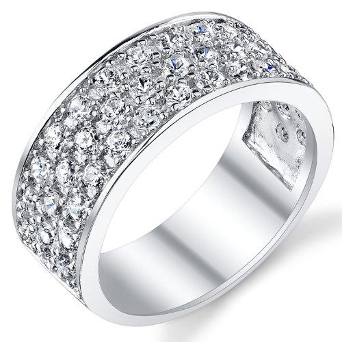 Ultimate Metals Co. Bague de Mariage Argent Sterling Avec Zircone Cubique Pour Homme