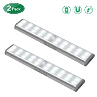 Amazon.com deals on 2-Pack HausLichts Under Cabinet Lighting 20 LED Motion Sensor