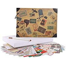 FaCraft Travel Scrapbook Album 10.5x7.5 Vintage DIY Vacation Photo Album