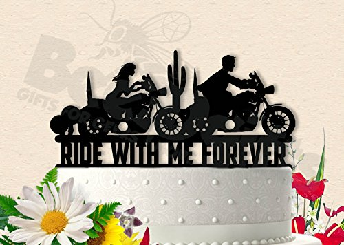 Ride With Me Forever Cake Topper