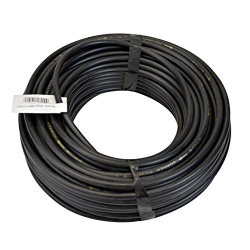 (Raindrip 018005P 1/4-Inch by 50-Feet Black Laser Drilled Soaker Hose Tubing)