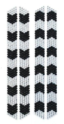 Midwest Design Imports 4-Piece Flip Flop Rhinestone Strips, Clear/Black Chevron (Rhinestone Patterns)