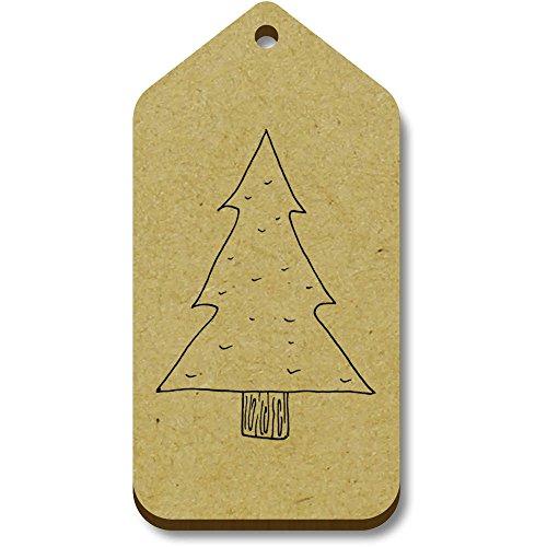 Azeeda regalo 34mm X Tag 66mm Tree' bagaglio 10 'Christmas tg00007282 0nrFq0a