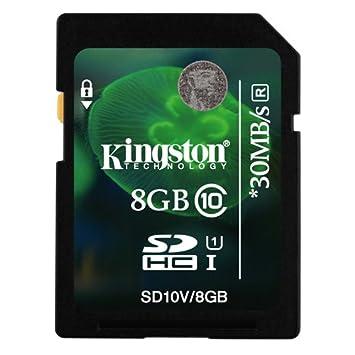 Tarjeta de Memoria SD SDHC Kingston 8GB Clase 10 Para Cámara ...