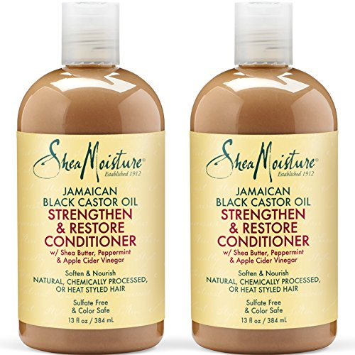 New Strand Double (Shea Moisture Jamaican Black Castor Oil Strengthen & Restore Conditioner | Pack of 2 | 13 Oz Each)