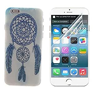 YULIN Light Blue Windbell design Hard with Screen Protector Cover for iPhone 6