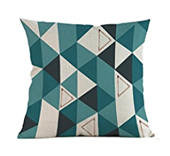 Amazon.com: Hattfart Square Geometric Antlers Printed ...