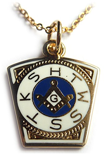 Fraternal Jewelry (Order of the Holy Royal Arch Freemason Masonic Necklace Pendant with Chain)