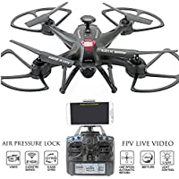 KiiToys Camera Drone with Live Video - Navigator FPV High Speed Quadcopter, First Person View Flight in Real Time with Virtual Reality VR, Air Pressure Sensor Attitude Lock, Easy Control