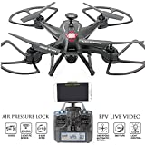 KiiToys Camera Drone with Live Video - Navigator FPV High Speed Quadcopter - First Person View Flight in Real Time with Virtual Reality VR - Air Pressure Sensor Attitude Lock - Easy Control