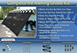 RV Awning Shade Kit 10' x 20' Complete RV Shade Kit (Black)