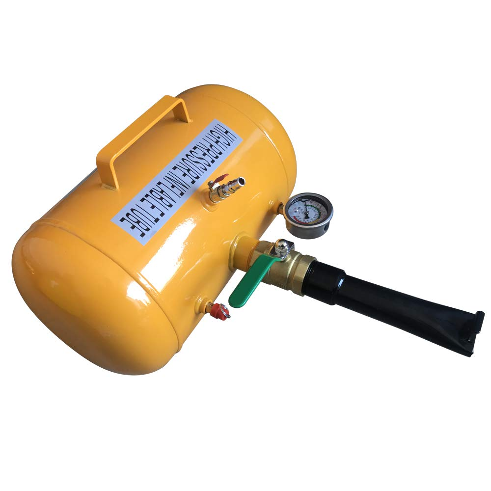 PARTS-DIYER 5 Gallon Compact High Air Bead Seater Tire Inflator Blaster Truck Tractor Yellow by PARTS-DIYER