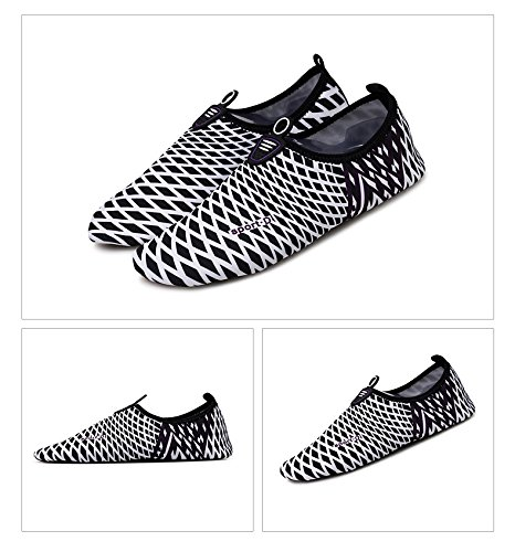 Humasol Men Women's Multifunctional Lightweight Quick-Dry Aqua Shoes Multifunctional Women's Water Socks for Swim Beach Pool B073WT1RB5 US Women:8.5-10/ Men:7-8.5 (EU 39-40)|Check-Black & White 005cb6