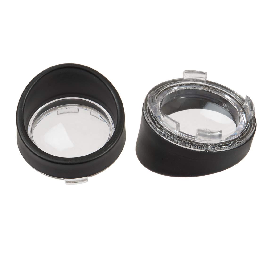 Compatible for Harley Dyna Street Glide Road Softail Custom Cruiser 1986-2020 Bullet Turn Signal Light Bezels,Black Visor Style PBYMT Clear Lens Cover