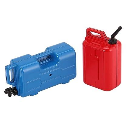 Gasolina 2pcs Mini aceite combustible simulado Contenedor ...