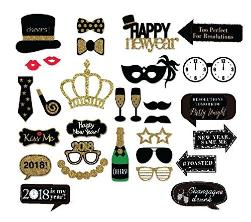 Veewon 2018 Frohes Neues Jahr Party Foto Booth Requisiten Lustige ...