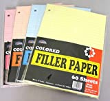 Loose Colored Filler Paper - 60 Sheets - Wide Ruled 90 pcs sku# 1392732MA