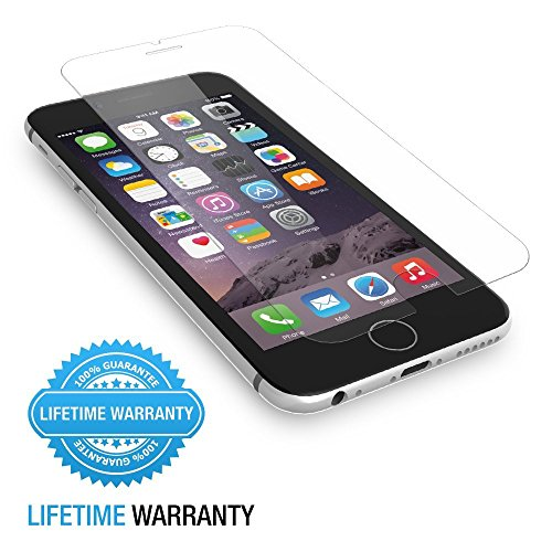 iPhone 6 Screen Protector, Easylife Tempered Glass Screen Protector for Apple iPhone 6 (4.7 Inch) 9H Hardness, 2.5D Arc Angle Premium 0.26mm Ultrathin, High Definition (HD), Touchscreen Accuracy [Life Time Warranty].