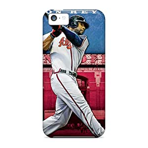 Premium KXo1905iyFY Case With Scratch-resistant/ Atlanta Braves Case Cover For Iphone 5c