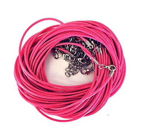 Rockin Beads 18 Imitation Leather Cord Necklaces Dk Pink 18