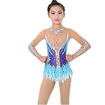 Amazon.com: Kmgjc Rhythmic Gymnastics Leotards,Women Girl ...
