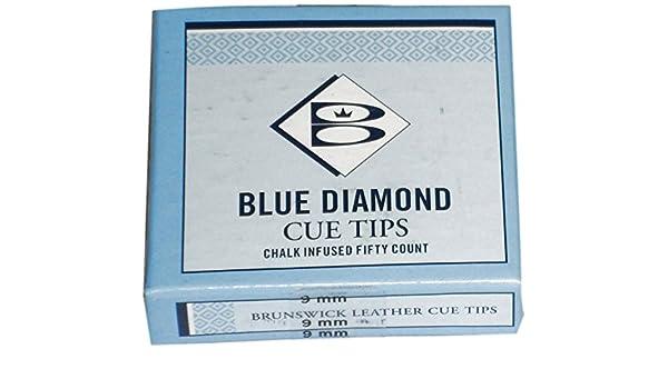 Brunswick Unisex Diamond Puntas de Palo de Billar, 10 mm, Caja de ...