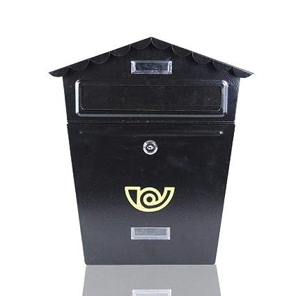 XSSD002 Buzón Europeo, Caja de sugerencia casera Creativa de la Cerradura Impermeable de la Pared, buzón Postal Retro al Aire Libre de la decoración ...