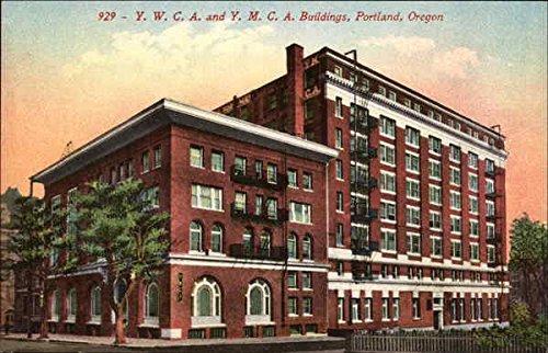 YWCA and YMCA Buildings Portland, Oregon Original Vintage Postcard